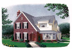 Contemporary Craftsman European House Plan 90397 Elevation