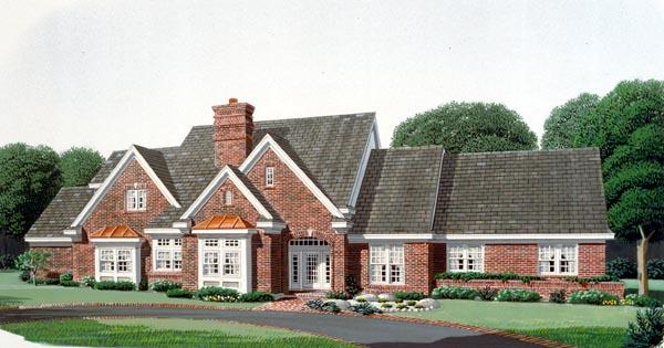 European Farmhouse House Plan 90399 Elevation