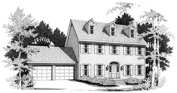 Colonial Elevation of Plan 90448
