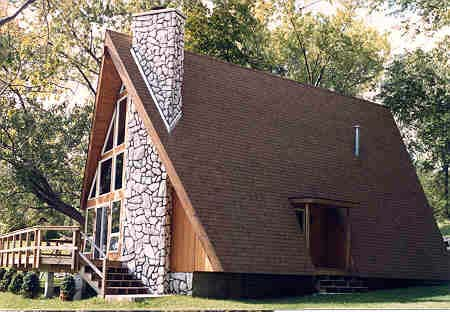 A-Frame, Cabin, Contemporary House Plan 90603 with 3 Beds, 2 Baths Picture 1