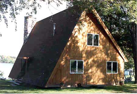 A-Frame, Cabin, Contemporary House Plan 90603 with 3 Beds, 2 Baths Picture 2