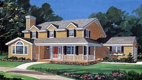 Country House Plan 90615 Elevation