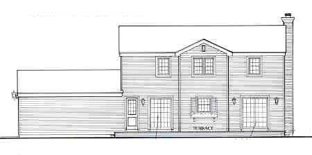 Country House Plan 90615 Rear Elevation