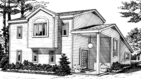Cabin Contemporary House Plan 90621 Rear Elevation