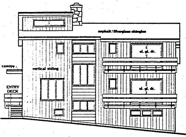 Contemporary Retro House Plan 90629 Rear Elevation