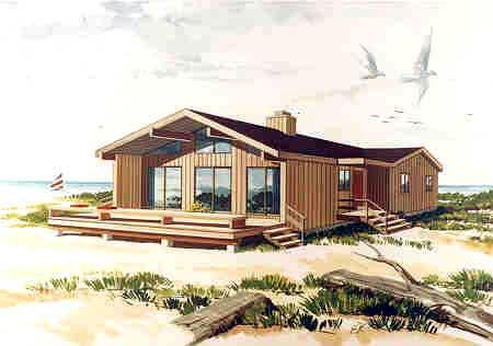 Coastal Contemporary House Plan 90630 Elevation