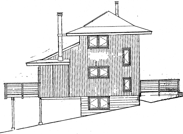 Cabin House Plan 90633 Rear Elevation