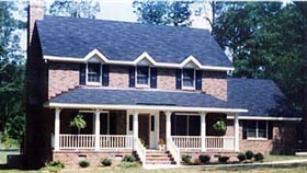 Colonial Country Traditional House Plan 90639 Elevation