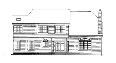 Country Farmhouse Victorian House Plan 90647 Rear Elevation