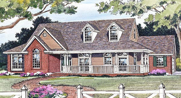 Country Farmhouse Ranch House Plan 90663 Elevation