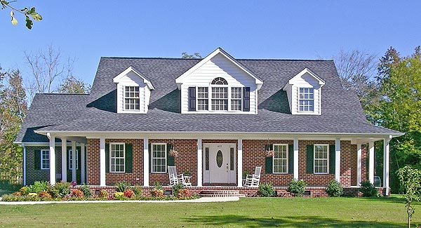 Country Farmhouse Ranch Elevation of Plan 90665