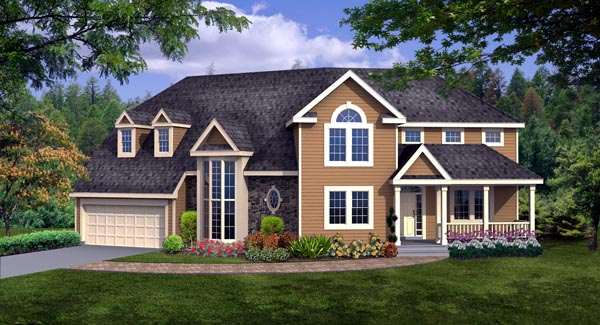 Country, Craftsman, Farmhouse House Plan 90666 with 4 Beds, 3 Baths, 2 Car Garage Elevation