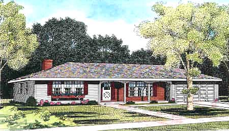 Florida Traditional House Plan 90682 Elevation