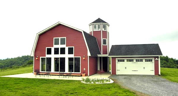 Country, Farmhouse House Plan 90685 with 3 Beds, 2 Baths, 2 Car Garage Elevation