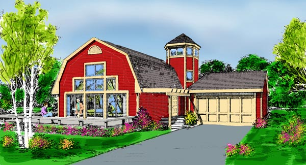 Country, Farmhouse House Plan 90685 with 3 Beds, 2 Baths, 2 Car Garage Picture 5