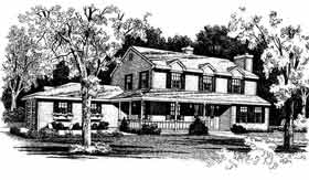 Country Farmhouse House Plan 90687 Elevation