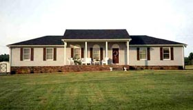 Country Farmhouse Southern Traditional House Plan 90689 Elevation