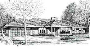 Contemporary Elevation of Plan 90697