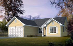 Ranch Traditional House Plan 90700 Elevation