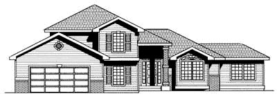 Traditional House Plan 90702 Elevation