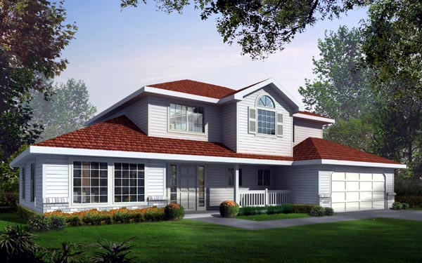 Country Traditional House Plan 90708 Elevation