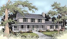 Country Farmhouse House Plan 90709 Elevation