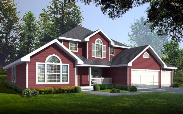 Country Traditional House Plan 90711 Elevation