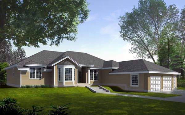 Ranch Traditional House Plan 90712 Elevation
