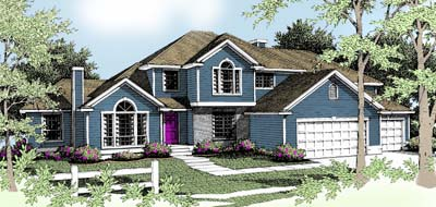 Traditional House Plan 90714 Elevation