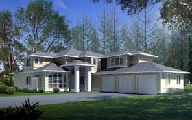 Contemporary Prairie Style Southwest House Plan 90715 Elevation