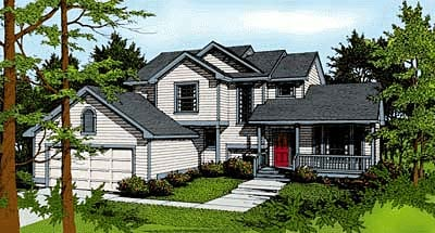 Country , Traditional House Plan 90721 with 3 Beds, 3 Baths, 2 Car Garage Elevation