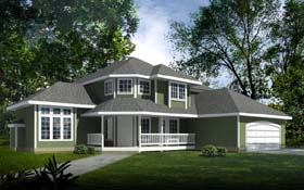 House Plan 90733 | Country Style Plan with 2534 Sq Ft, 4 Bedrooms, 3 Bathrooms, 3 Car Garage Elevation
