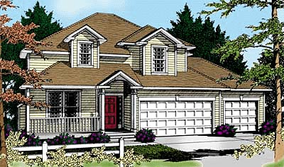 Traditional House Plan 90738 Elevation