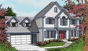 Colonial Traditional House Plan 90739 Elevation