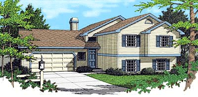Colonial Traditional House Plan 90740 Elevation