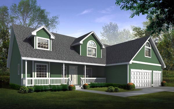 Country Farmhouse House Plan 90742 Elevation