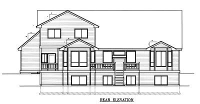 Country, Farmhouse House Plan 90742 with 4 Beds, 3 Baths, 3 Car Garage Rear Elevation
