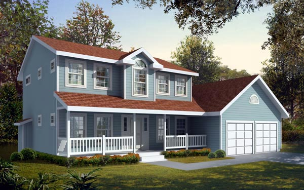 Country Farmhouse House Plan 90743 Elevation