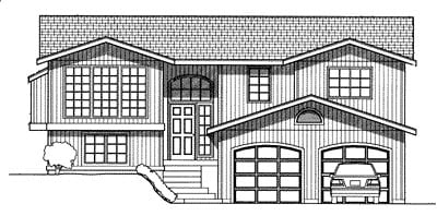 One-Story, Traditional House Plan 90745 with 3 Beds, 3 Baths, 2 Car Garage Elevation