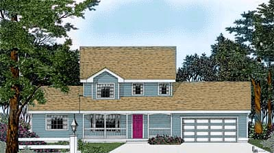 Country House Plan 90747 Elevation