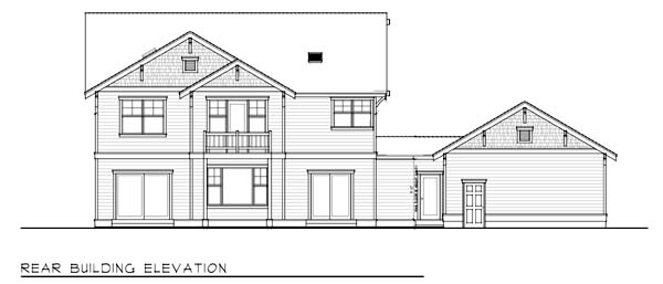 Country Craftsman House Plan 90751 Rear Elevation
