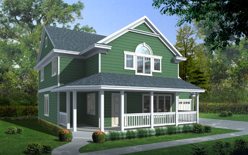 Country Farmhouse House Plan 90752 Elevation