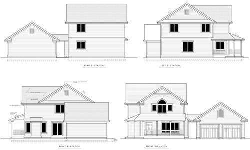 Country Farmhouse House Plan 90752 Rear Elevation