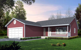 Ranch House Plan 90753 Elevation