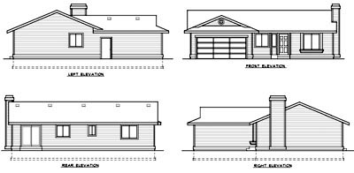 Ranch House Plan 90754 Rear Elevation