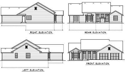 Ranch House Plan 90755 Rear Elevation