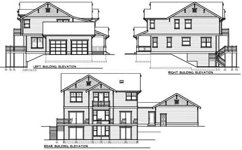 Craftsman House Plan 90757 Rear Elevation