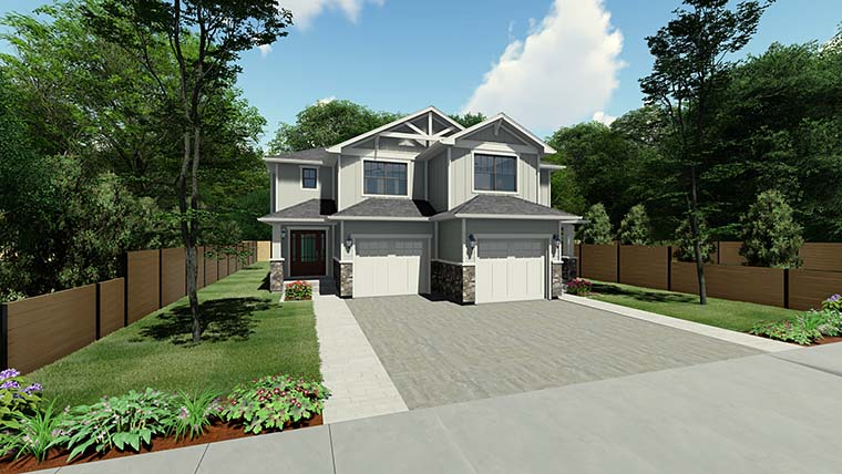 Craftsman Multi-Family Plan 90811 with 6 Beds, 6 Baths, 2 Car Garage Picture 5