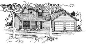 Contemporary House Plan 90814 Elevation