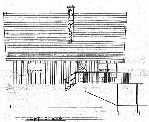 Cabin, Country House Plan 90822 with 3 Beds, 2 Baths Picture 2